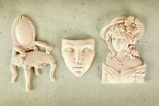 Sugarcraft Molds Polymer Clay Molds Cake Decorating /chair face lady girl mold