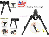 "US Adjustable 7.5""-9"" Spring Tactical Aluminum M-lok Rifle Bipod For Hunting"