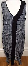 TAKING SHAPE Grey Black White Sleeveless Texture Material Long Tunic Dress 18