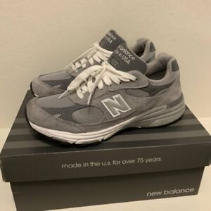 New balance Men's Made in US 993 Grey with white Lifestyle Free Shipping
