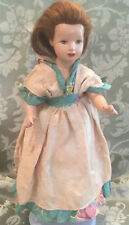 "Doll - Monica of Hollywood 14"" Vintage with Human Hair can be washed and styled"