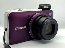 Canon PowerShot SX220 HS 12.1MP Camera - 14x zoom lens - Box and Case - Purple