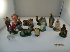 Set Of 14 Made In Italy Hand-Painted Figures~Nativity~2 marked differently