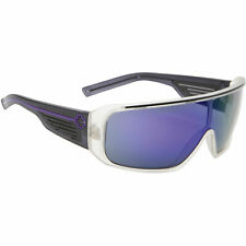 fe3e799e67 Spy Optic Tron Sunglasses Clear Crystal Black Grey Grreh Purple Mirrored  Lens