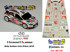 DECAL  1/43 -  HYUNDAI i20  R5  - BASSO  - Rally  ANTIBES  2018