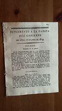 Suplemento a la Gazeta del Gobierno 17 Abril 1809 Ataque a la Isla de Martinica