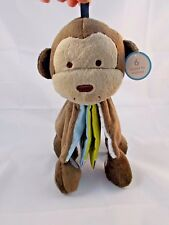 Carters Monkey Plush Soft Cloth Book 9""