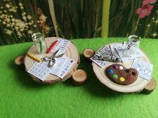 Miniature school accessories Set, art & English, crayons,  sylvanian families?