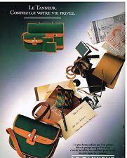Publicité Advertising 1987 Maroquinerie sac à main Le Tanneur