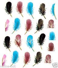 One Stroke Sticker, Feder, Vogelfeder, feather, Tattoo, Aufkleber  Nr. 1770