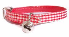 "Pet Palace® ""Clothcat"" Safety Cat Adjustable Collar gingham tablecloth pattern"