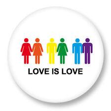 Magnet Aimant Frigo Ø38mm Gay Homo Peace and Love Paix Amour LGBT