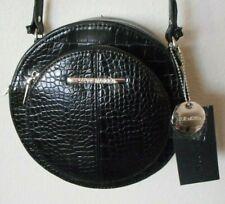 BRAND NEW STEVE MADDEN Black Reptile Print Canteen Crossbody Handbag Purse