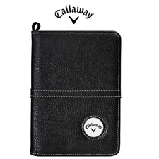 Callaway Golf Premium Scorecard Holder , Magnetic Ball Marker Durable PU Leather
