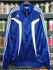🌊🔵Adidas Climacool Mens Tracksuit Jacket Track Top Running Shiny Wet Look Blue