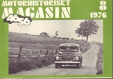 Motorhistoriskt Magasin Swedish Car Magazine 8 1976 Plymouth 032717nonDBE