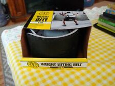 """New GOLDS GYM Leather Weight Lifting Training Belt Back Support 34""""- 42"""" L/XL"""