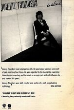 """12/12/92PGN14 JOHNNY THUNDERS : SO ALONE ADVERT 7X5"""""""