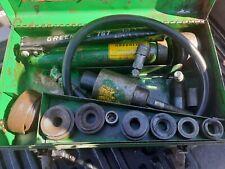 "Greenlee 7646 ½""-4"" Conduit Hydraulic Knockout Punch Set 767 Pump 742Bb 736 3�"