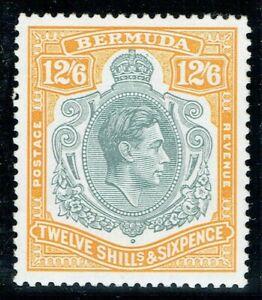 Bermuda 1938 SG120e 12/6 Grey & Pale Orange P13.3 VF V/L/M/M Cat. £100.00