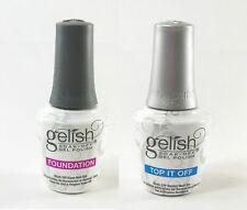 Harmony Gelish Soak-Off Top it Off Top Coat + Foundation Base Coat .5 oz. ea.