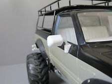 Pair White Rubber Side Mirror Tamiya RC 1/10 Toyota Hilux Bruiser Trailfinder
