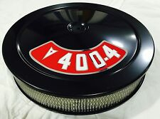 BLACK Air Cleaner PERFORMANCE WHITE FILTER 14X3  PONTIAC 400 DECAL INCLUDED NEW
