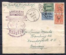 MS2784* 1936 USA Lakehurst *HINDENBURG FLIGHT* Cachet Cover Germany Hamburg