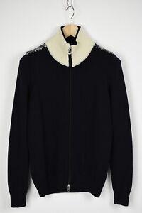 DALE OF NORWAY Wmn MEDIUM 100% Merino Wool Full Zip Snowflakes Sweater 30571_JS