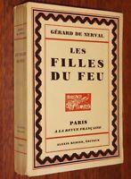Gérard de Nerval LES FILLES DU FEU illustré eaux-fortes Charles Bisson 173/1125