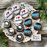 """12 Hockey Pins * 1 1/4"""" PINBACK Buttons - Party Favor for your Team! USA NEW"""