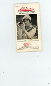 ca 1928 Leica pocket roll film camera  ad pamphlet #1127