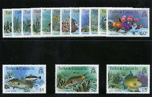 Turks & Caicos 1978 QEII Fish set complete superb MNH SG 514a-528a. Sc 360-374