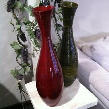 "DECORATIVE VASES EACH VASE IS 6"" WIDE X 24"" TALL (SET OF TWO)"