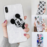 Cute Mickey Mouse Case For iPhone Xs Max X 8 7 Shell Glossy Cartoon Disney Cover
