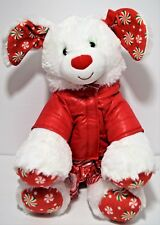 "Build A Bear Merry Mint Christmas Puppy Dog 15"" Plush Outfit Coat Stuffed Animal"