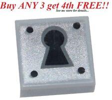 ☀️Lego Minifig KEY HOLE LOCK 1x1 GRAY TILE Castle Door Treasure Chest Padlock
