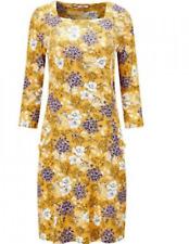 Joe Browns Size 10 Mustard Floral Unique Print Square Neck Tunic Top DRESS £38