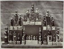 Photo les statuettes Egyptienne -musée de Boulaq par Délié et Béchard 1872 Egypt