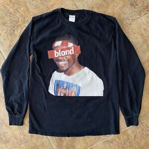 Frank Ocean - Blond / Long Sleeve Black T-Shirt / Size S Small (Blonded)