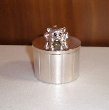 """Silver-Plated Keepsake Box """"Baby'S First Tooth or Curl"""" Euc"""