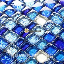 unique blue baroque Mediterranean glass tiles backsplash mosaic tiles HMGM0001