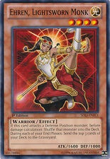 3x Yugioh SDLI-EN011 Ehren, Lightsworn Monk Common Card