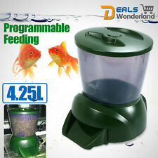 Pawsfiesta 4.25L Automatic Fish Feeder Tank Pond with Digital Food Timer
