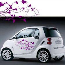 2 adesivi stickers DX SX tuning fiori farfalle auto smart mini fiat a0062