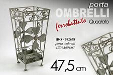 PORTA OMBRELLI IN FERRO BATTUTO QUADRATO H47,5 CM IRO-592638