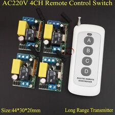 Smart Home Remote Switch AC 220V 4CH Light Lamp LED SMD Remote ON OFF Switch