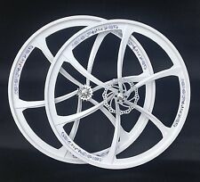 700C MAGNESIUM ALLOY FIXED WHEELS PAIR WITH FRONT 160MM DISC WITH 6 SPOKES