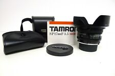 Tamron SP 17mm f3.5 MF W/A Lens w/Hood/Caps/Cases f/ Film & Digital SLR MINT