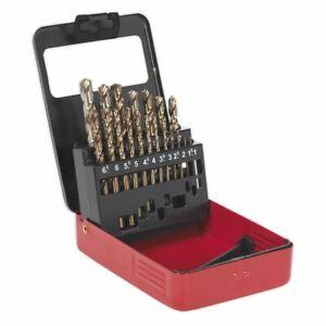Sealey AK4701 HSS Cobalt Split Point Fully Ground Drill Bit Set 19pc Metric